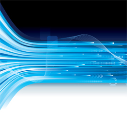 Blue Data Stream